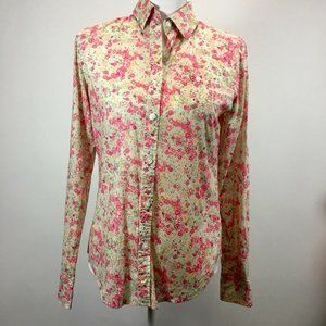American Eagle Favorite Fit Floral button down top